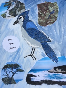 rachelrenovation, The Book of Jim, Jim, art of a blue scrub jay